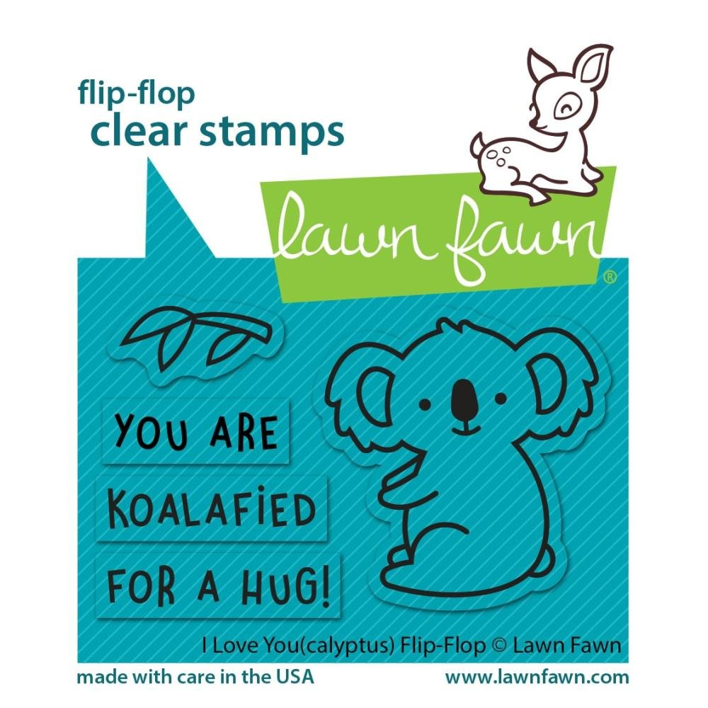 I Love You(calyptus) flip-flop stamp