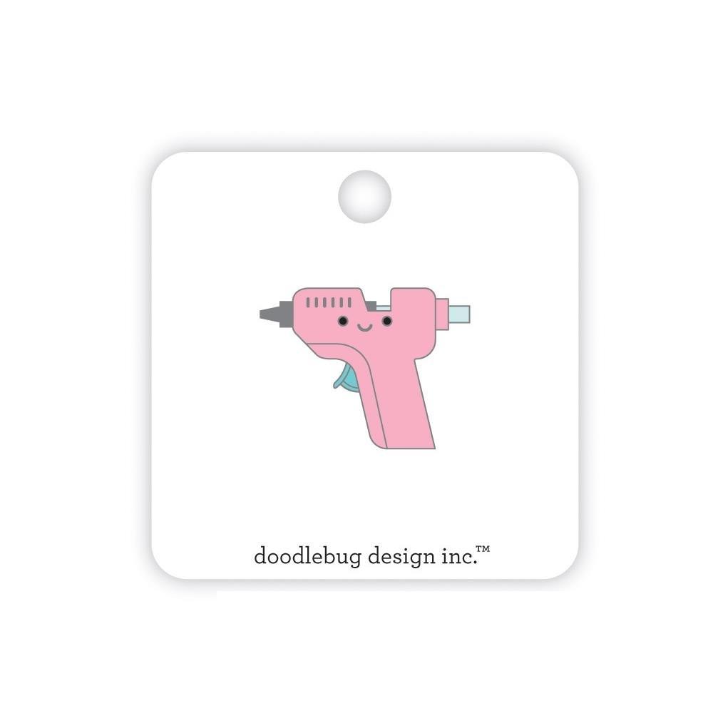 Doodlebug Collectible Enamel Pin-Glue Gun