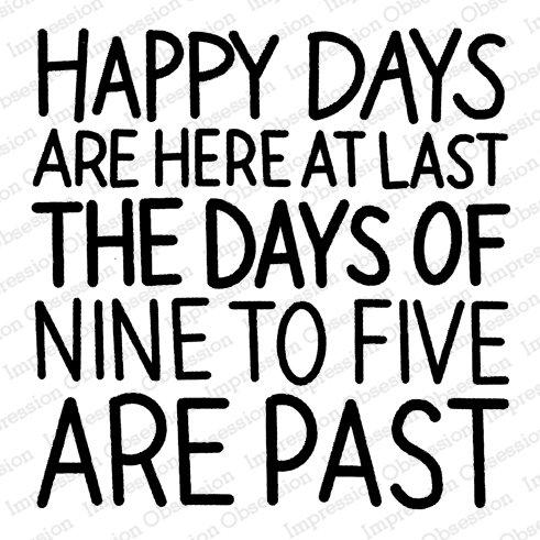 IO Happy Days Retirement Stamp