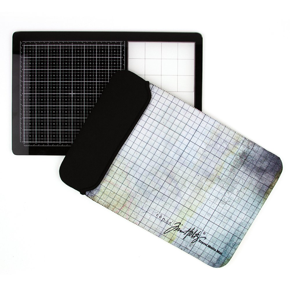 Travel Glass Media Mat with Case!