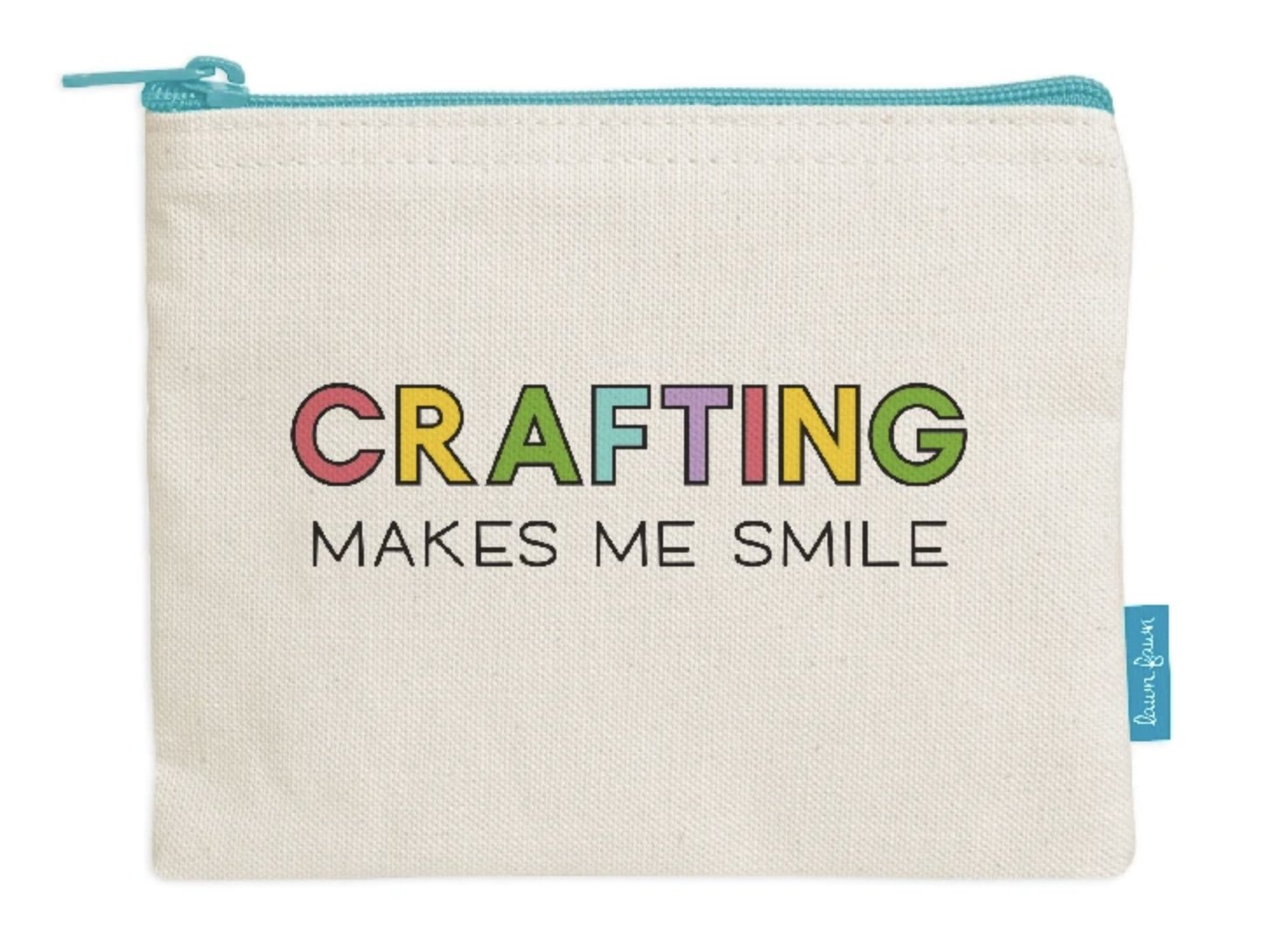 Lawn Fawn Tote Bag - Zipper Pouch - Crafting Makes Me Smile