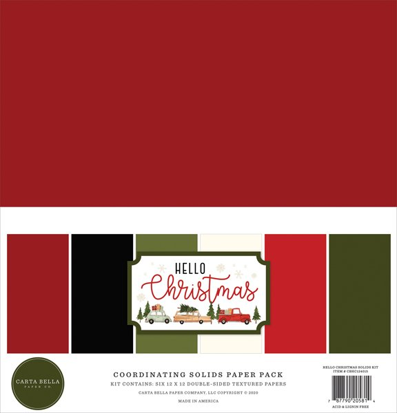 Hello Christmas Solid Cardstock Kit