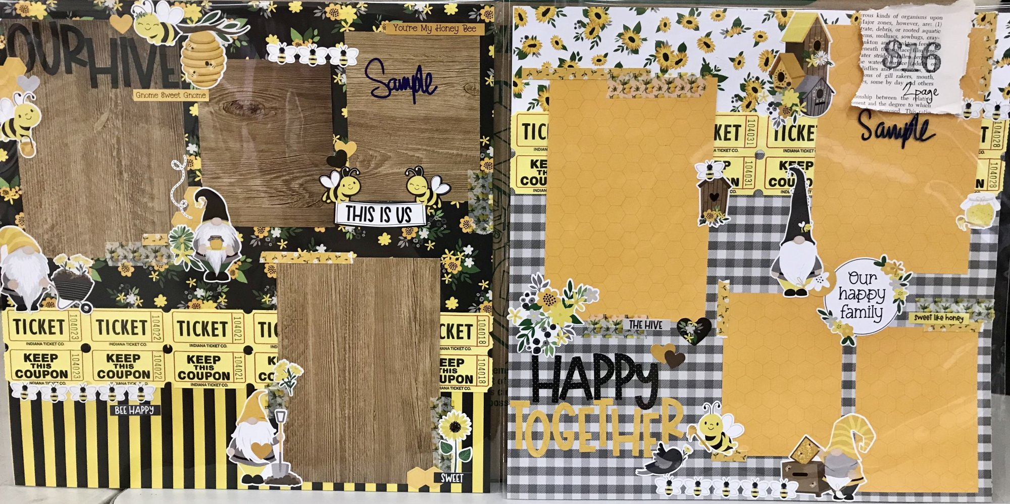 Sweet As Honey 2 Page Layout Kit