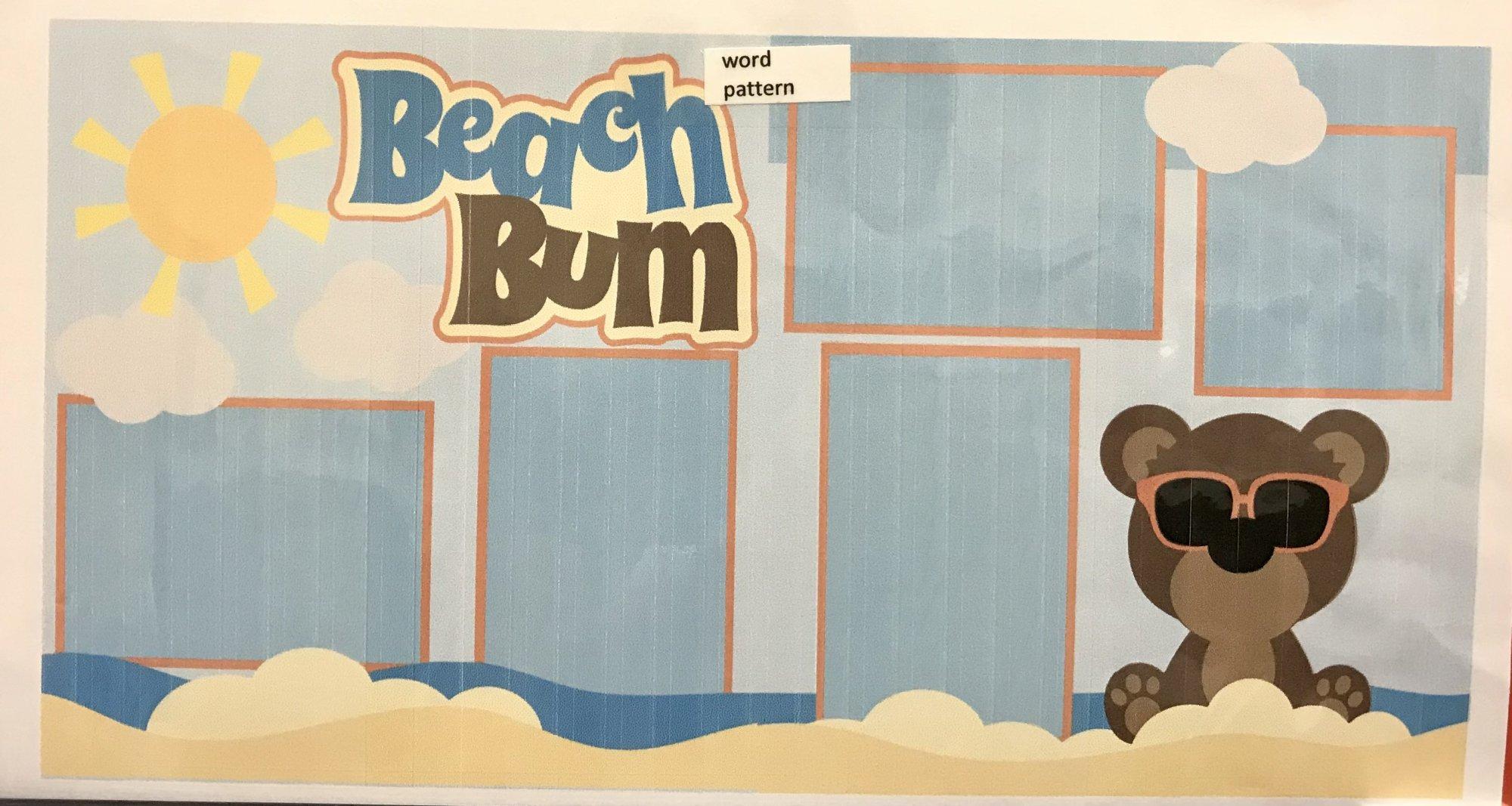 Beach Bum 2 Page Layout Kit