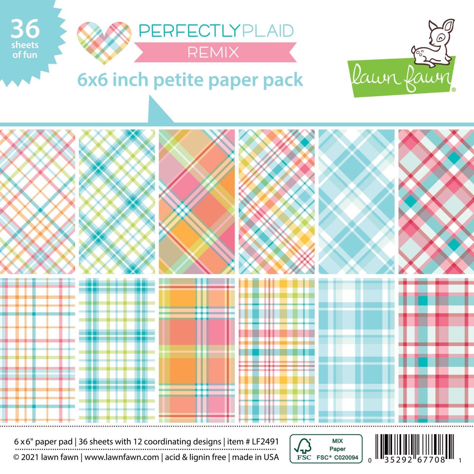 Perfectly Plaid Remix 6x6 petite paper pad