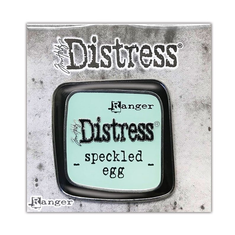 Tim Holtz Distress Enamel Collector Pin - Speckled Egg