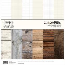 Color Vibe Cardstock Kit - Woods - 12x12