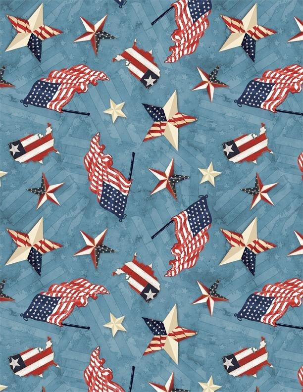 Patriotic Toss Blue