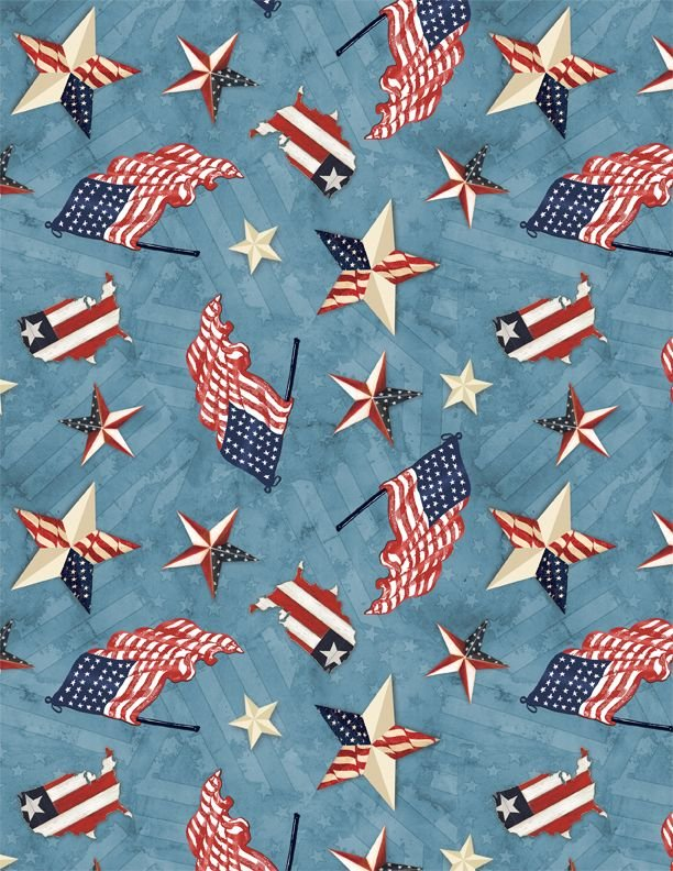 Patriotic Toss Blue