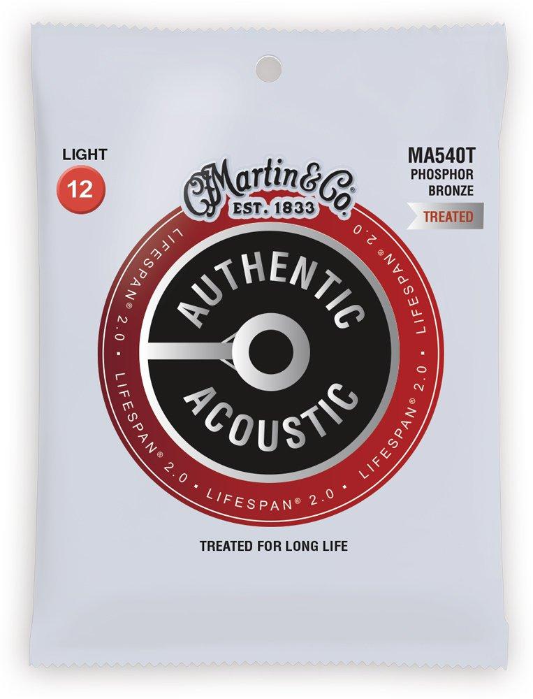 Martin Authentic Acoustic Lifespan 2.0 Treated Guitar Strings - 92/8 Phosphor Bronze Light