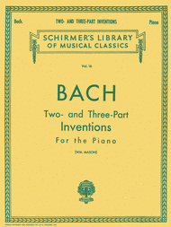 Bach 2 & 3Part Inventions Schirmer Ed.