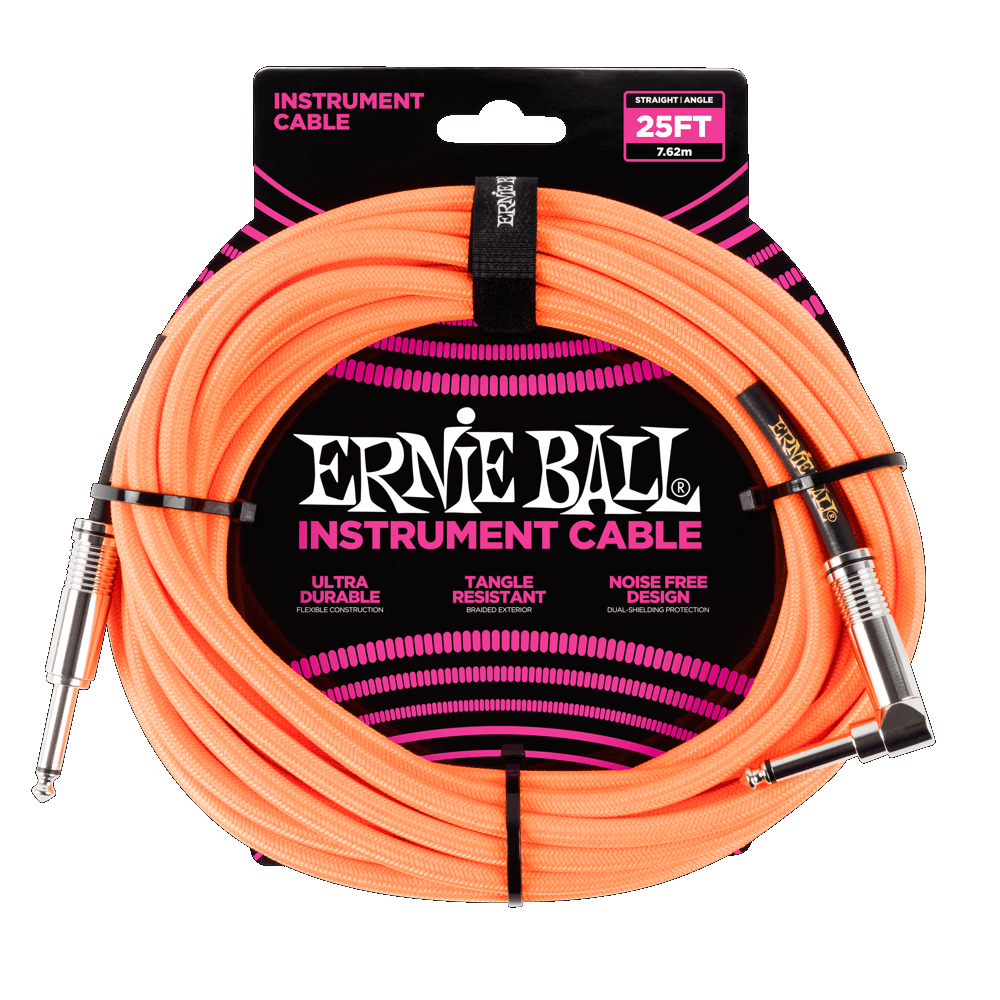 Ernie Ball Braided 25 Orange