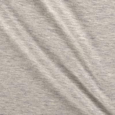 Stof Fabrics Denmark Avalana Melange Jersey Knit Solid Light Grey Fabric