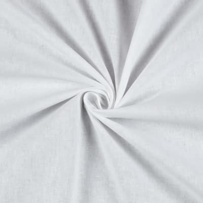 Stof France Aquitaine 61 Solid Cotton White Fabric