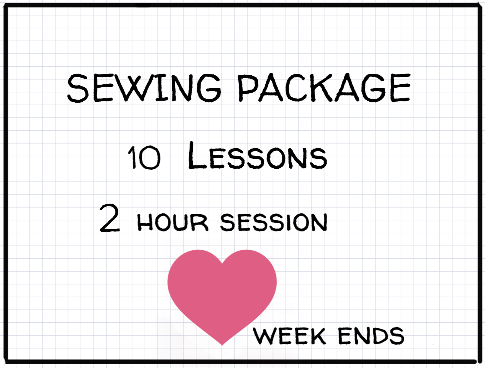 2 hours Private Lessons: Week-end:: Package of 10