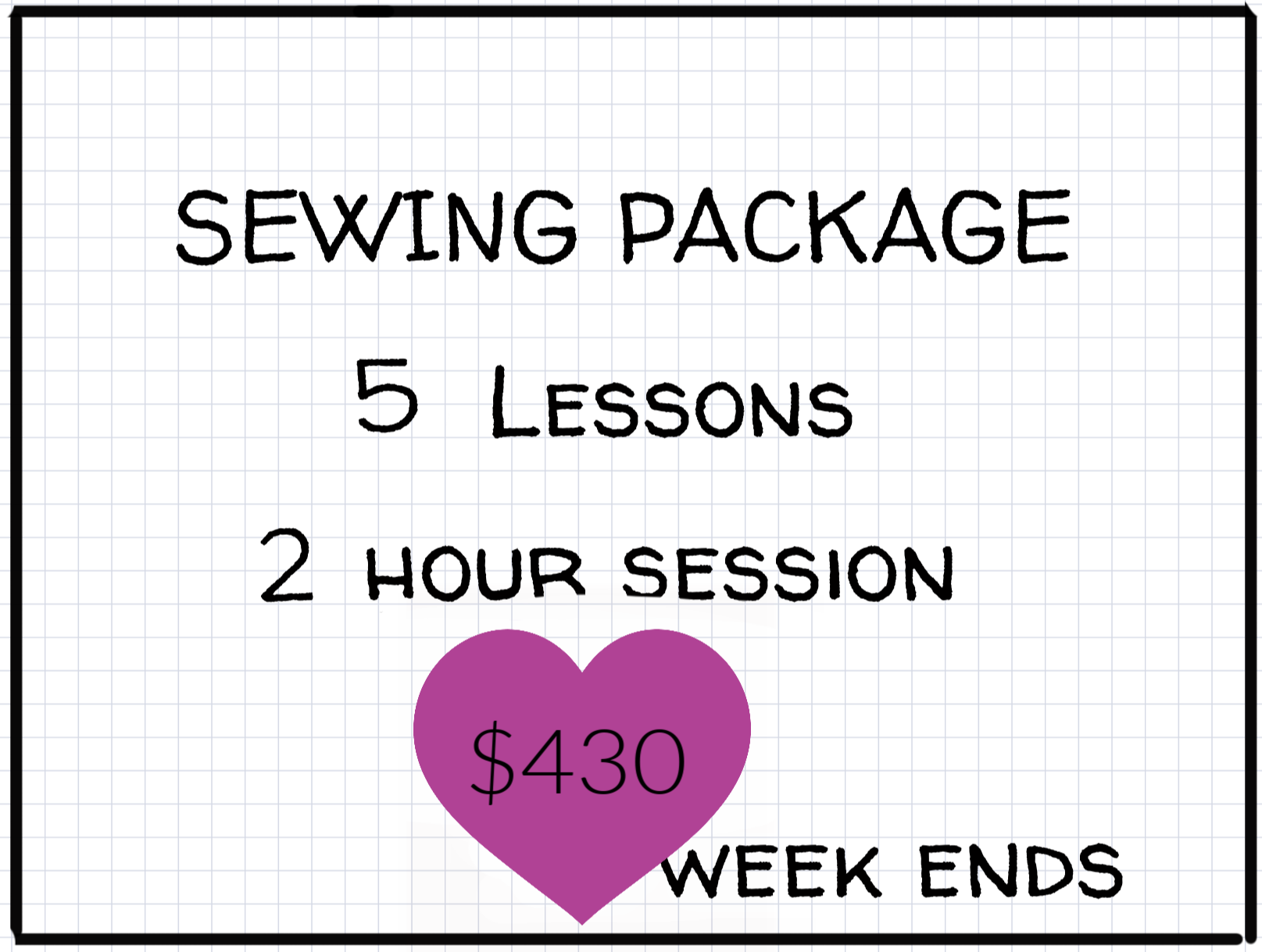 2 hours Private Lessons: Week-end: Package of 5