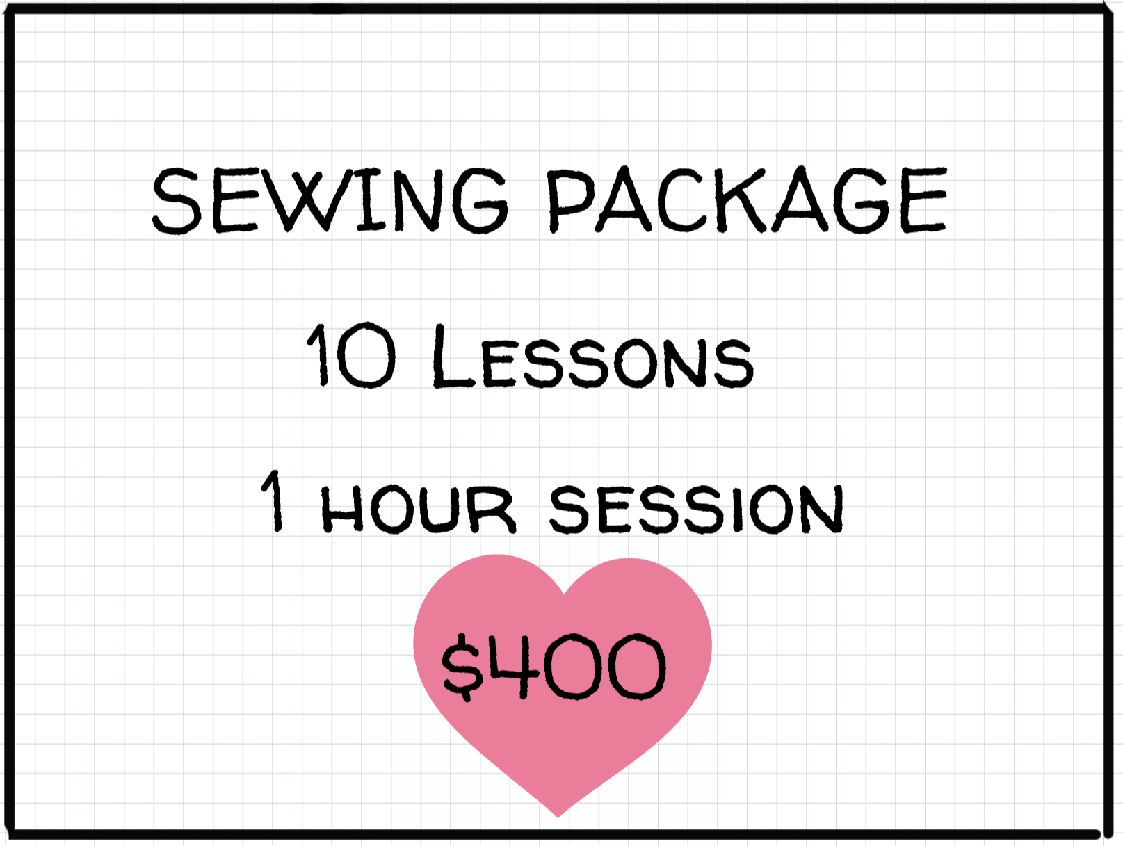 1 hour Private Lessons: Week-days:: Package of 10 -