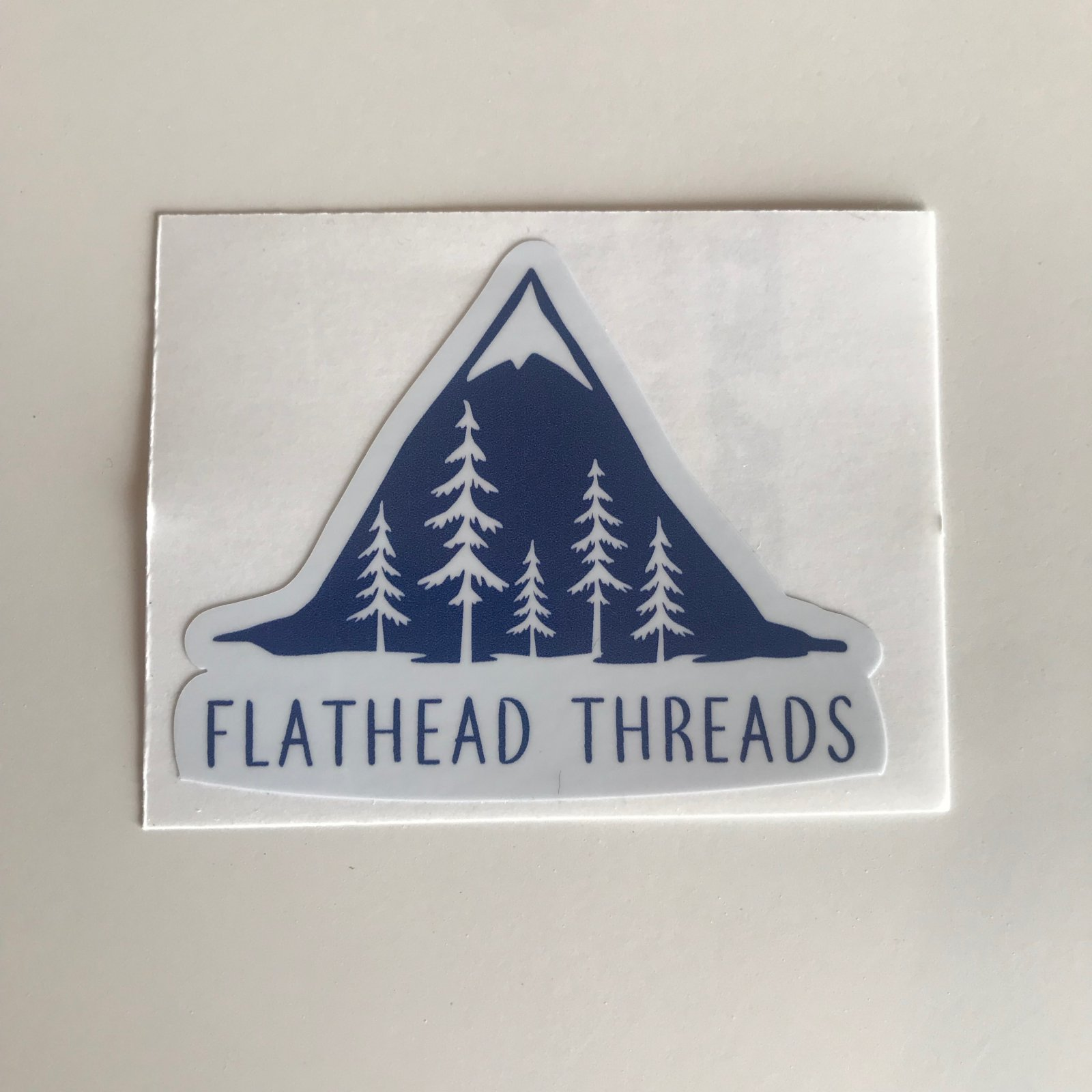 Flathead Threads Sticker