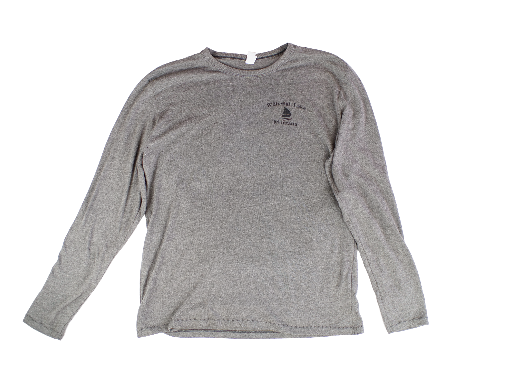 Whitefish Lake Long Sleeve Grey