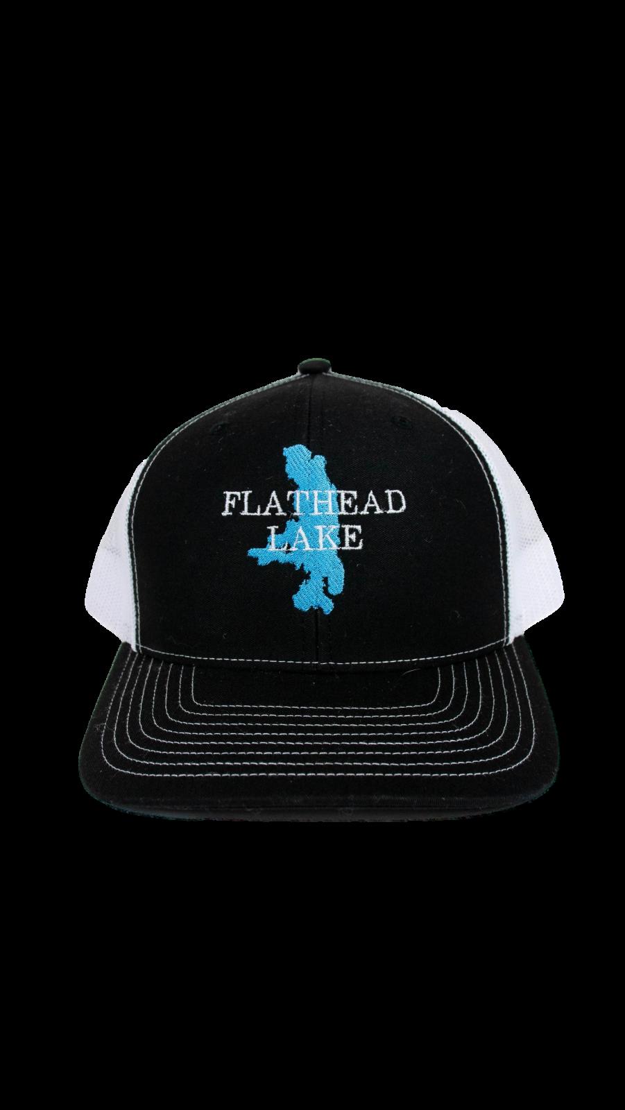 Flathead Lake Black / White Trucker Hat