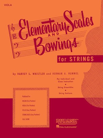 Rubank Elementary Scales And Bowings - Violin