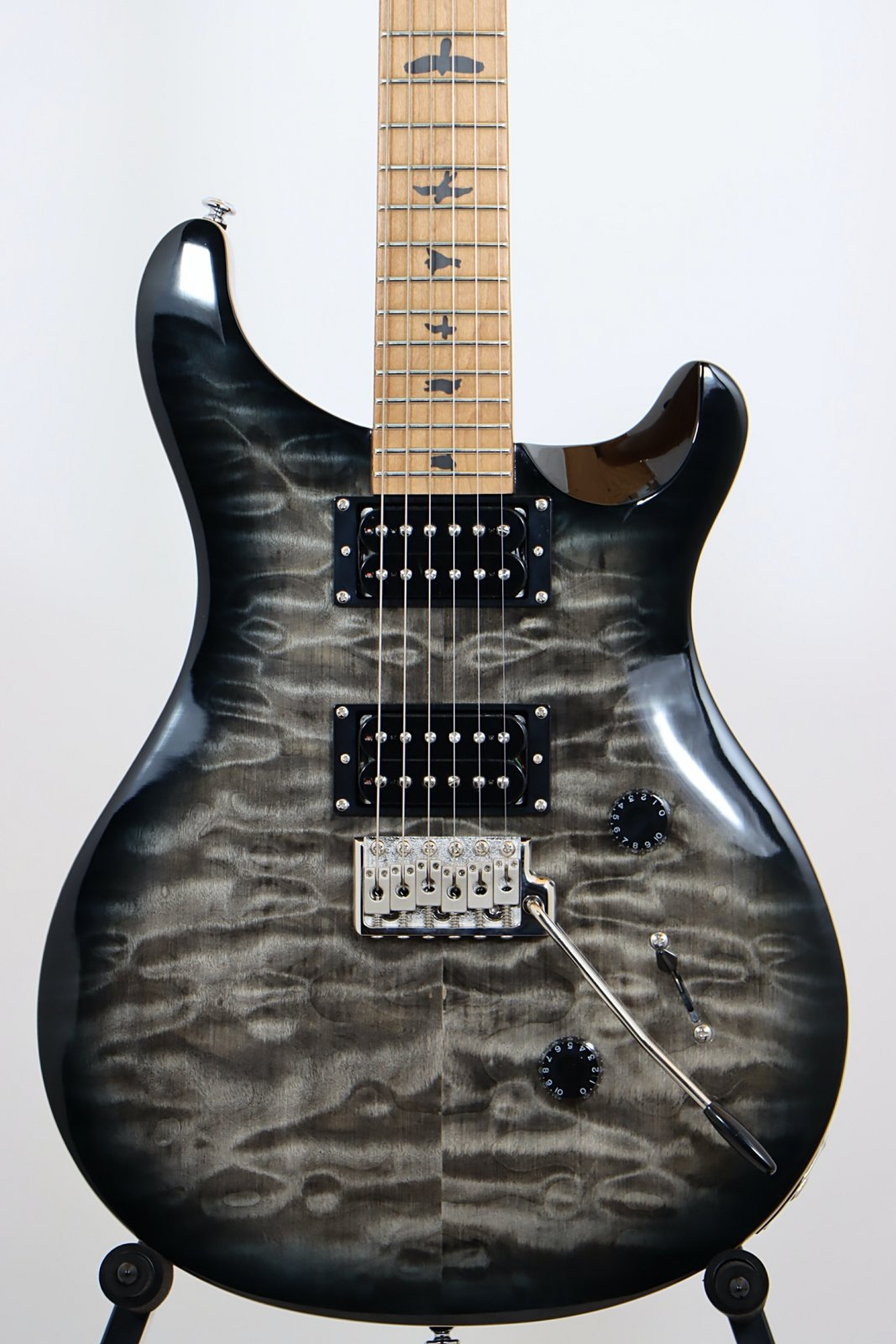 2019 PRS SE Custom 24 Roasted Maple Limited Edition, Charcoal Burst with PRS Gig Bag
