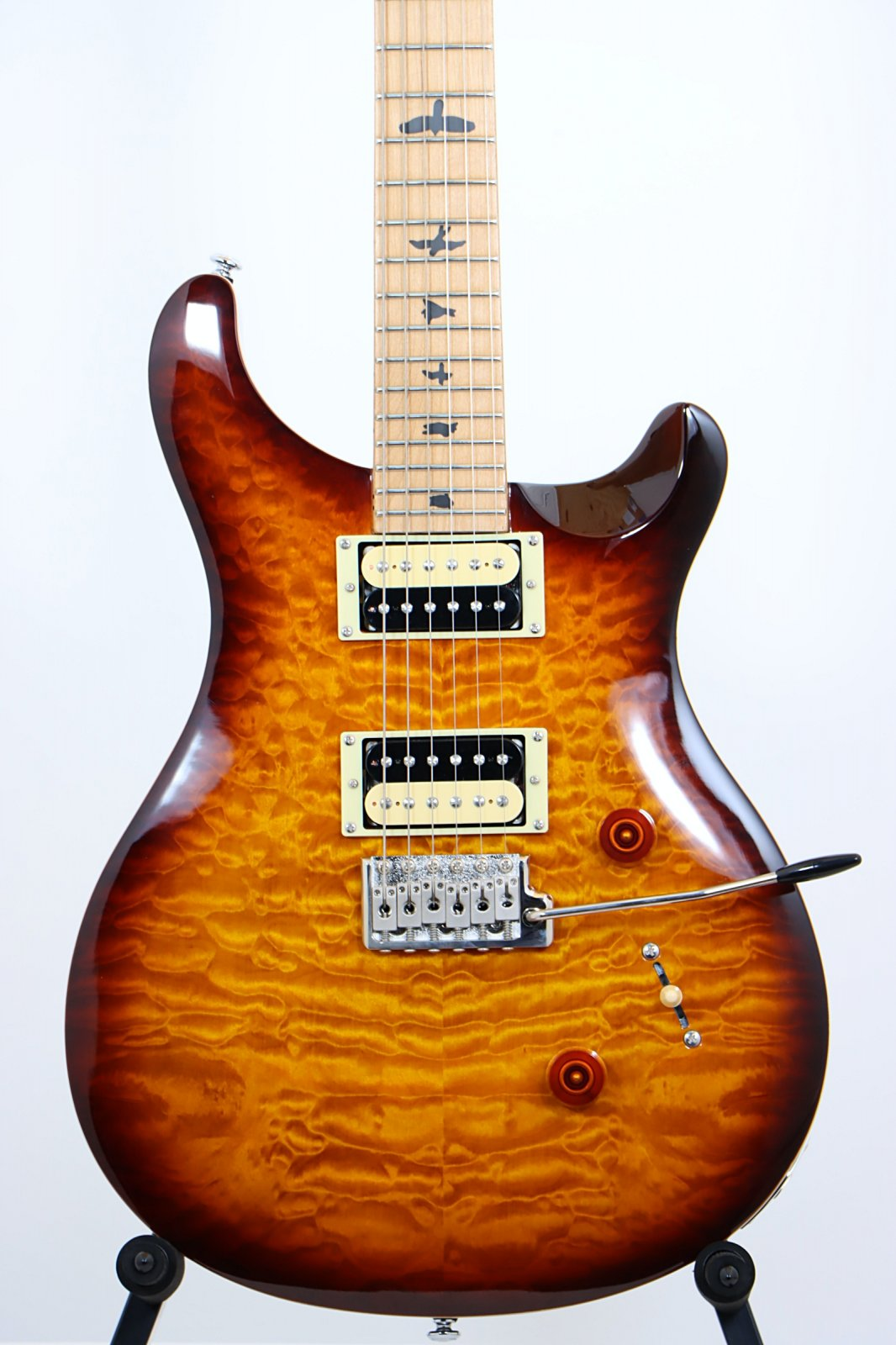 2019 PRS SE Custom 24 Limited Edition Quilted Top Roasted Maple Neck - Tobacco Sunburst