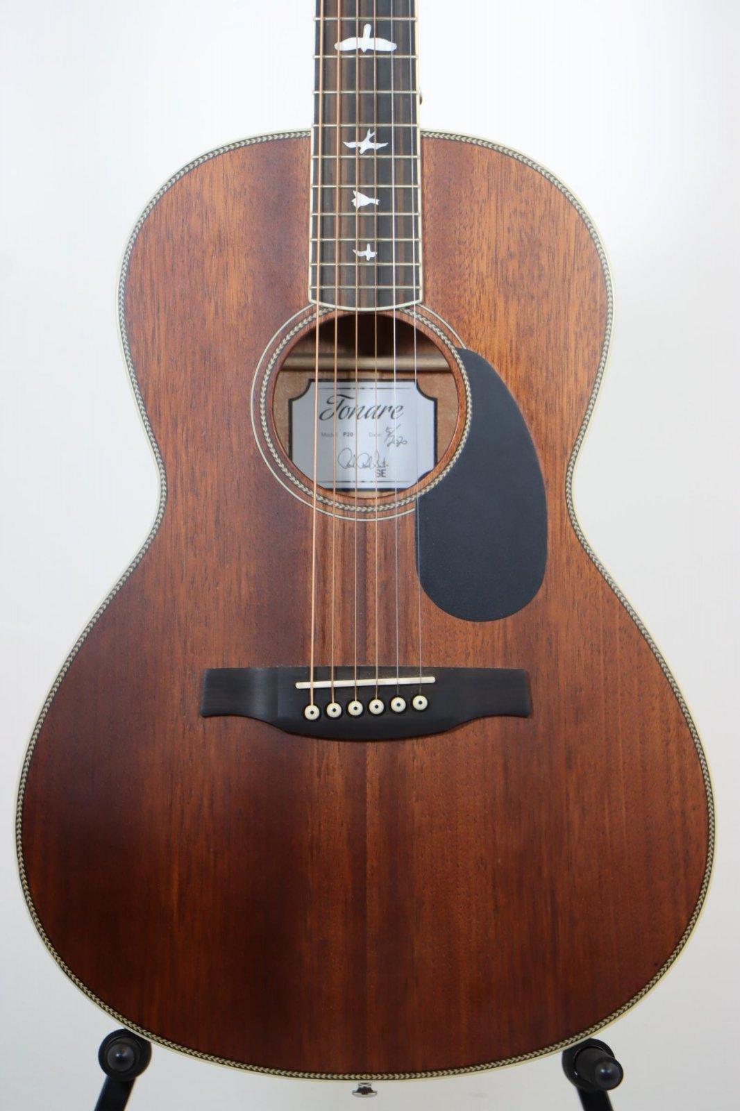 USED PRS SE P20 Parlor Acoustic Guitar - Vintage Mahogany w/Gig Bag