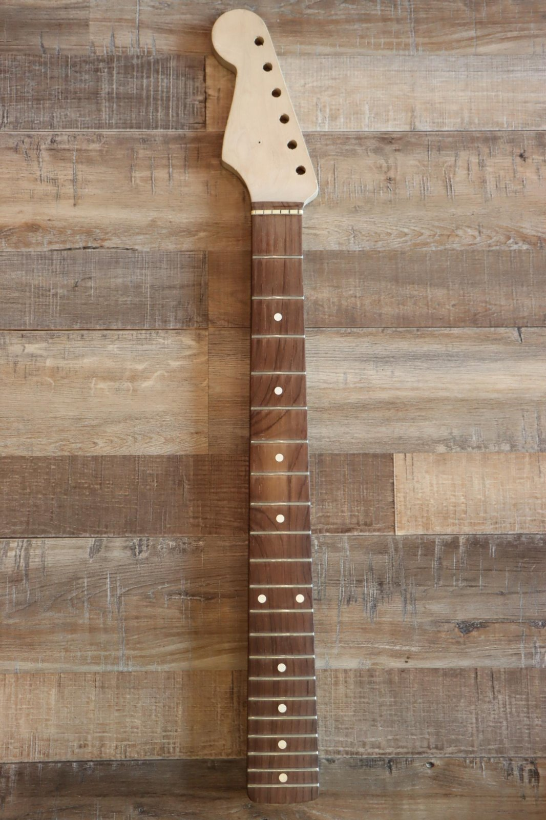 USED Left-Handed No Name Strat-Copy Neck w/Gorgeous Rosewood Fingerboard - HUGE 50'S FEEL