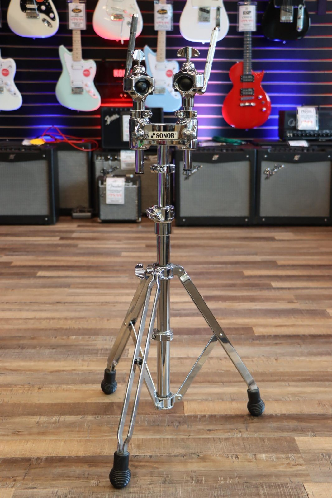 USED Sonor Heavy-Duty Double Tom Tom Stand