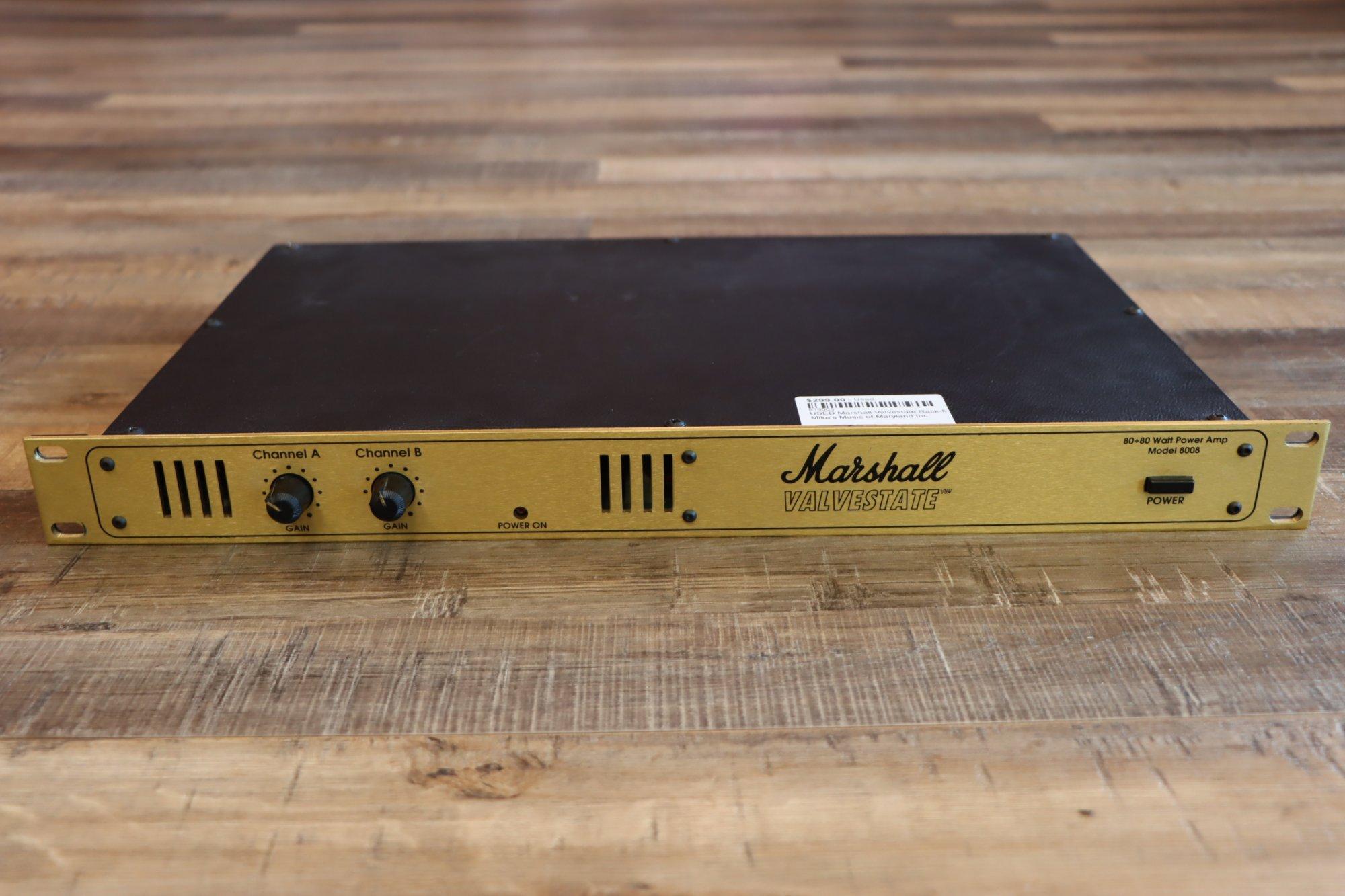 USED Marshall Valvestate Rack-Mount Power Amp Model 8008