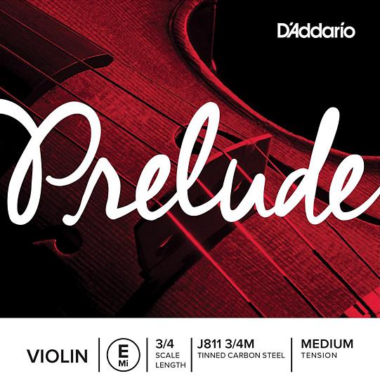 D'addario Prelude Violin E String Medium Tension 3/4