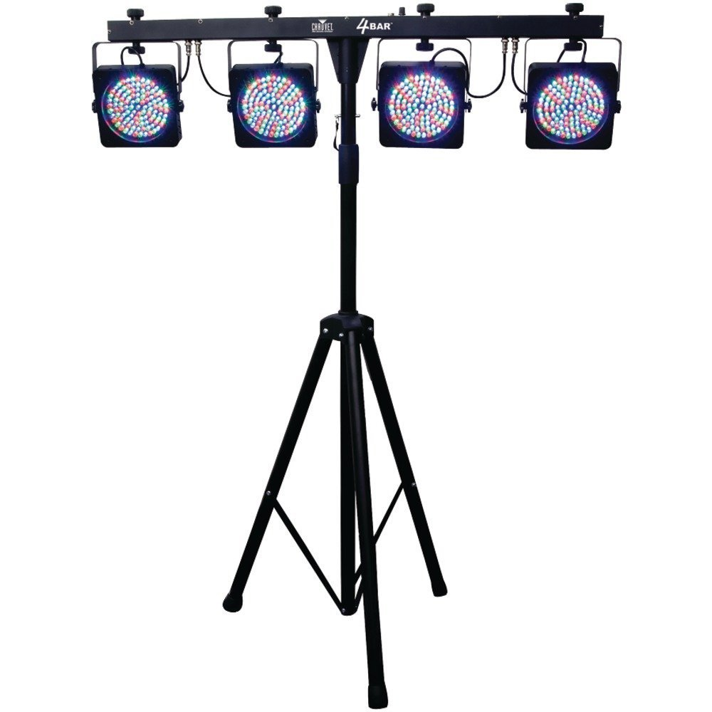 Chauvet 4BAR 4 Led Lights with Stand and Foot Controller