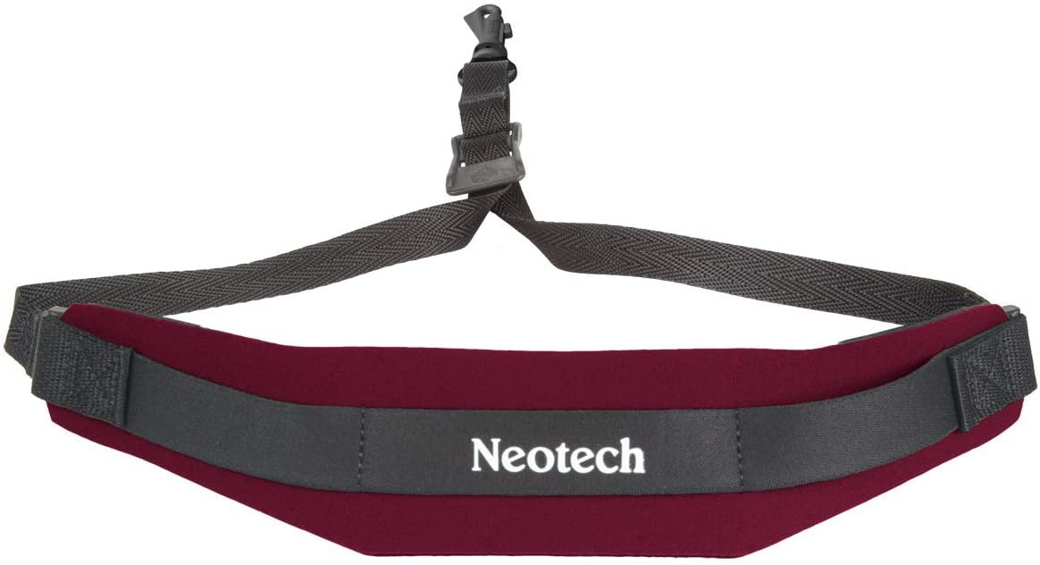 Neotech Sax Strap With Swivel Hook, Wine Red