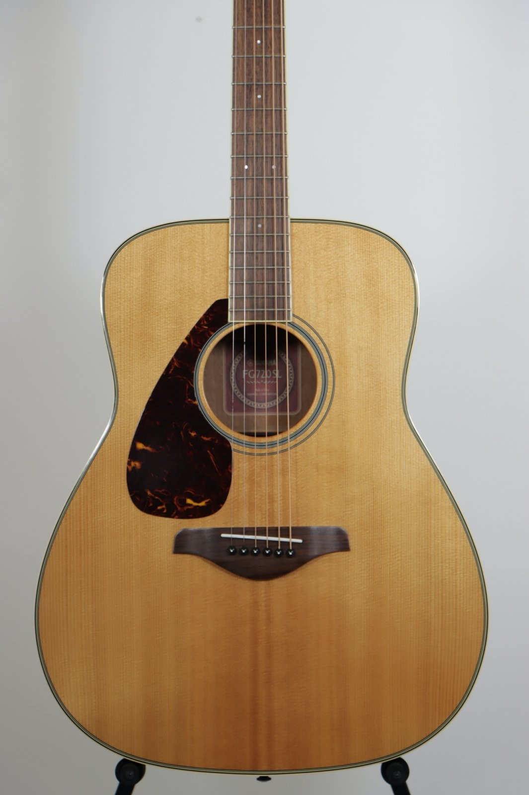USED Yamaha FG720SL LEFT-HANDED Dreadnaught Acoustic Guitar / Solid Spruce Top!  Sounds HUGE