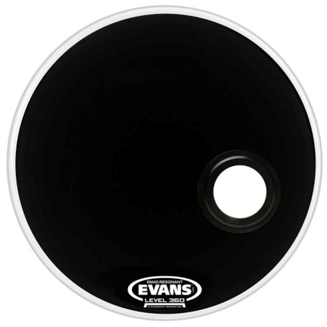Evans 20 EMAD Resonant Batter Bass Drumhead Black