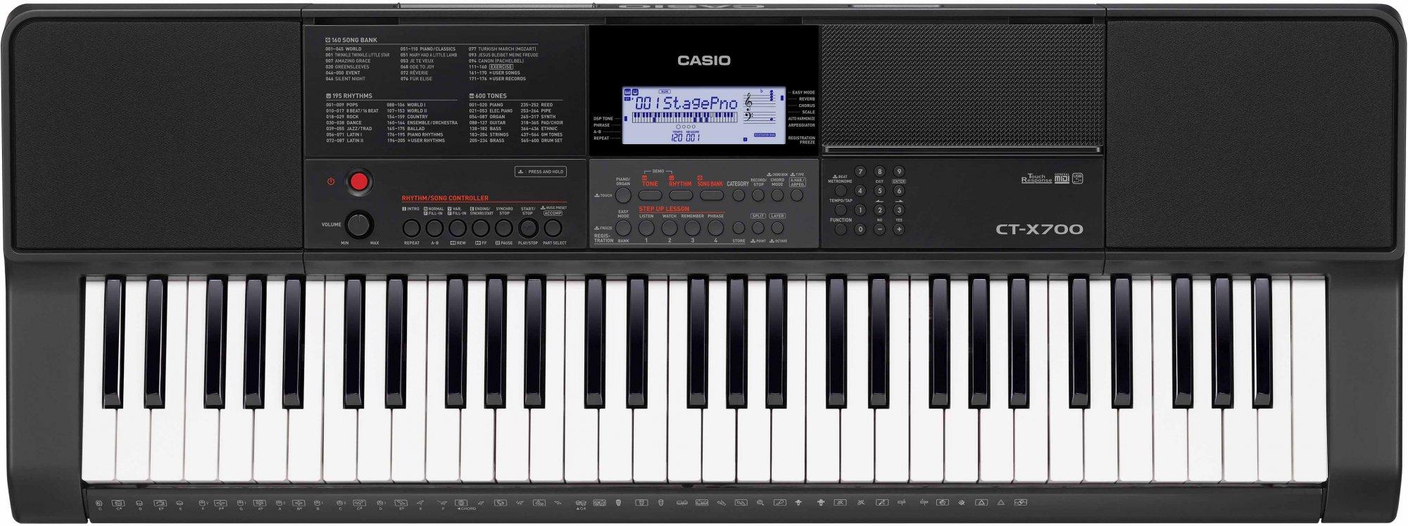 Casio CTX700 61-Key Portable Arranger Keyboard