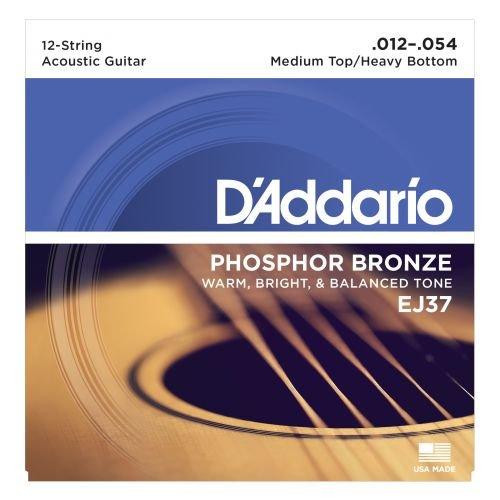 D'Addario 12-String Acoustic Med Top/Heavy Bottom Guitar Strings
