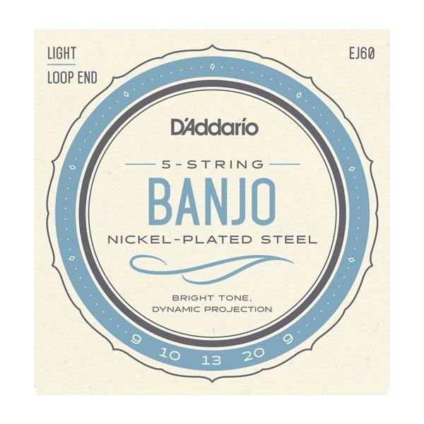 D'Addario Light Banjo Strings w/Loop End