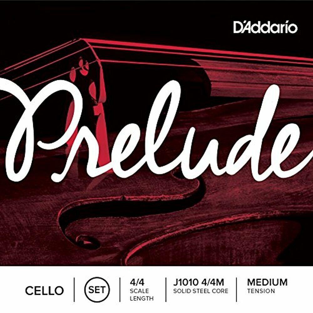 D'Addario Prelude Cello String Set, 4/4 Medium Tension