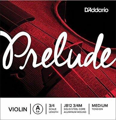 D'Addario Prelude 3/4 Violin A String Medium Tension