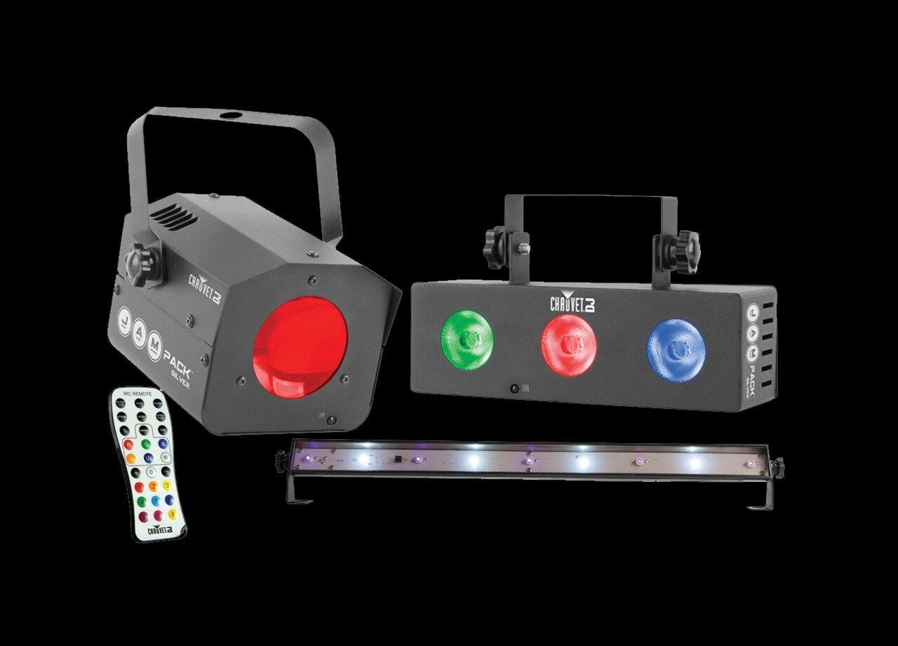 Chauvet DJ JAM Pack Silver - Moonflower light, UV strobe light and wash effect light set