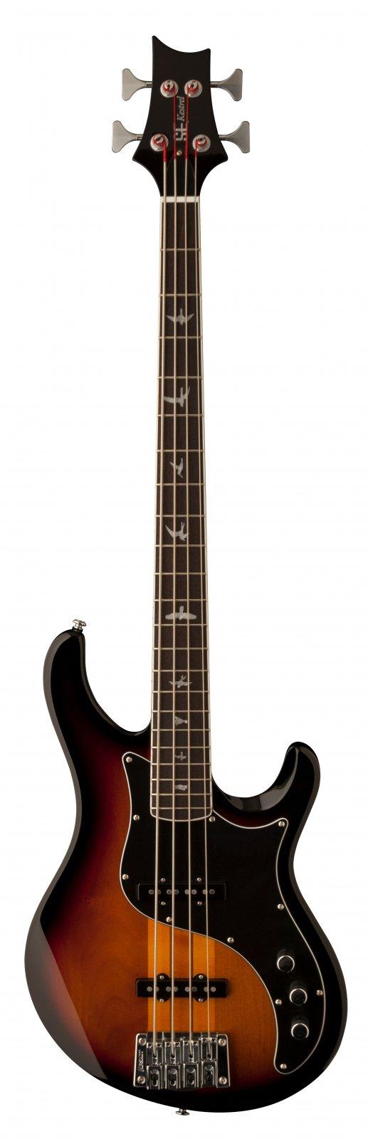 PRS SE Kestrel Bass - Tri-Color Sunburst w/Gig Bag