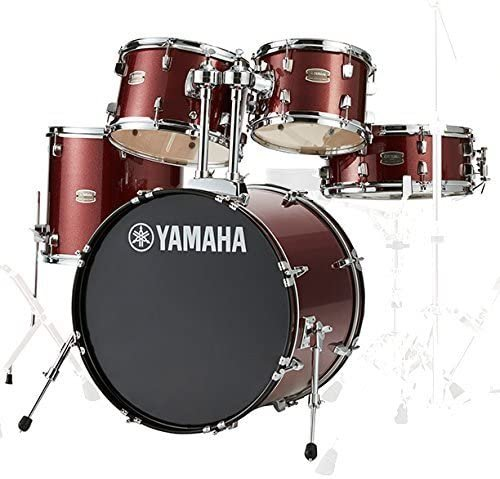 Yamaha Rydeen 5-Piece Shell Kit - 20 Bass Drum - Burgundy Glitter