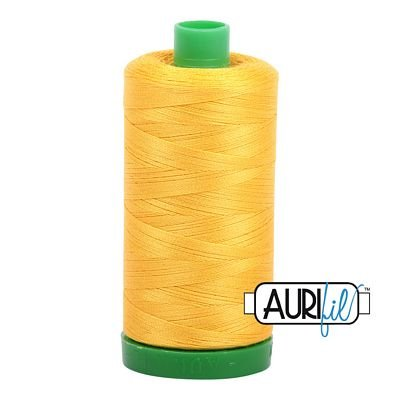 Aurifil Cotton Thread Solid 40wt 1000m YELLOW