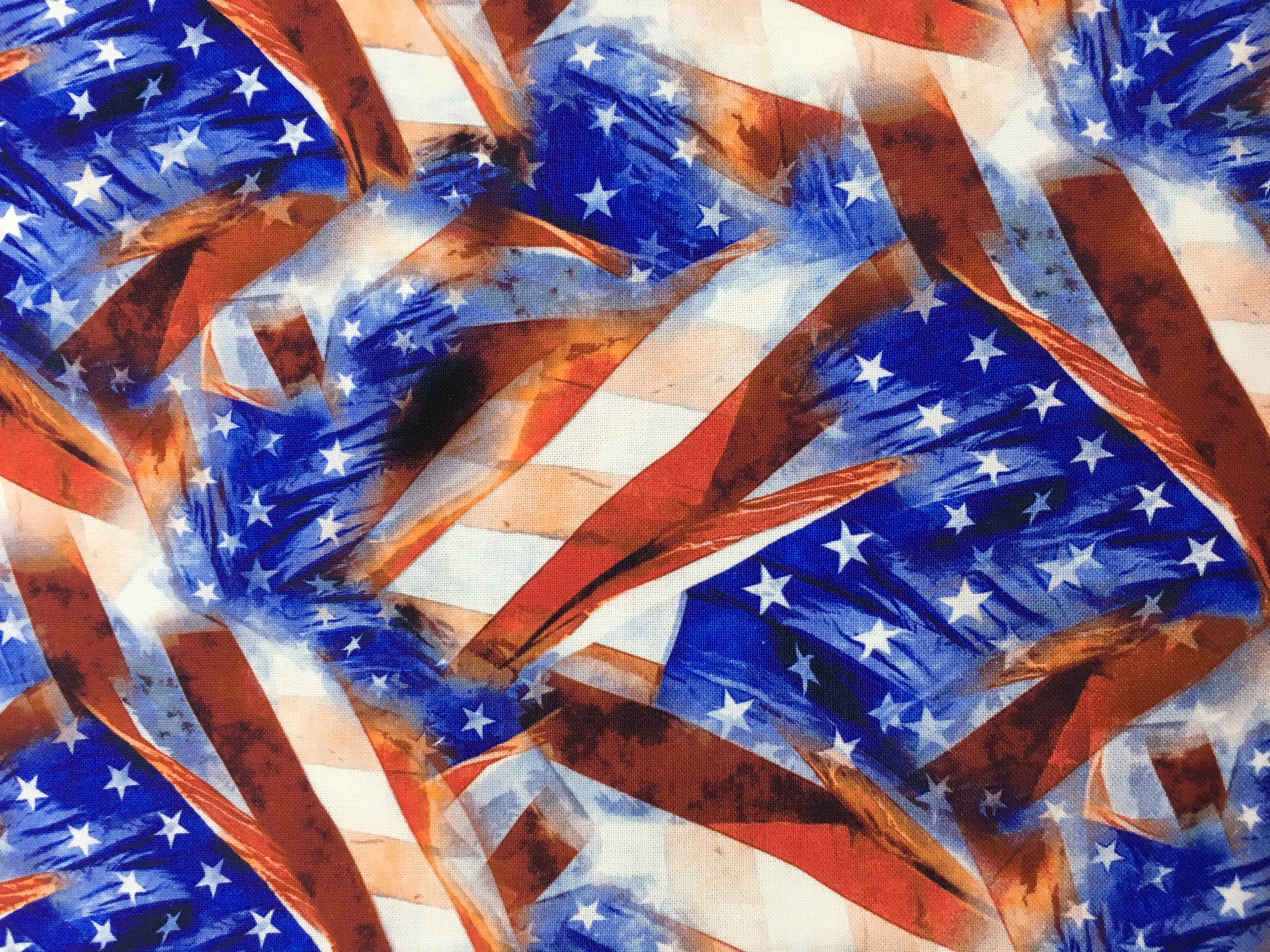 Patriotic Print 44/45 Flag all Directions