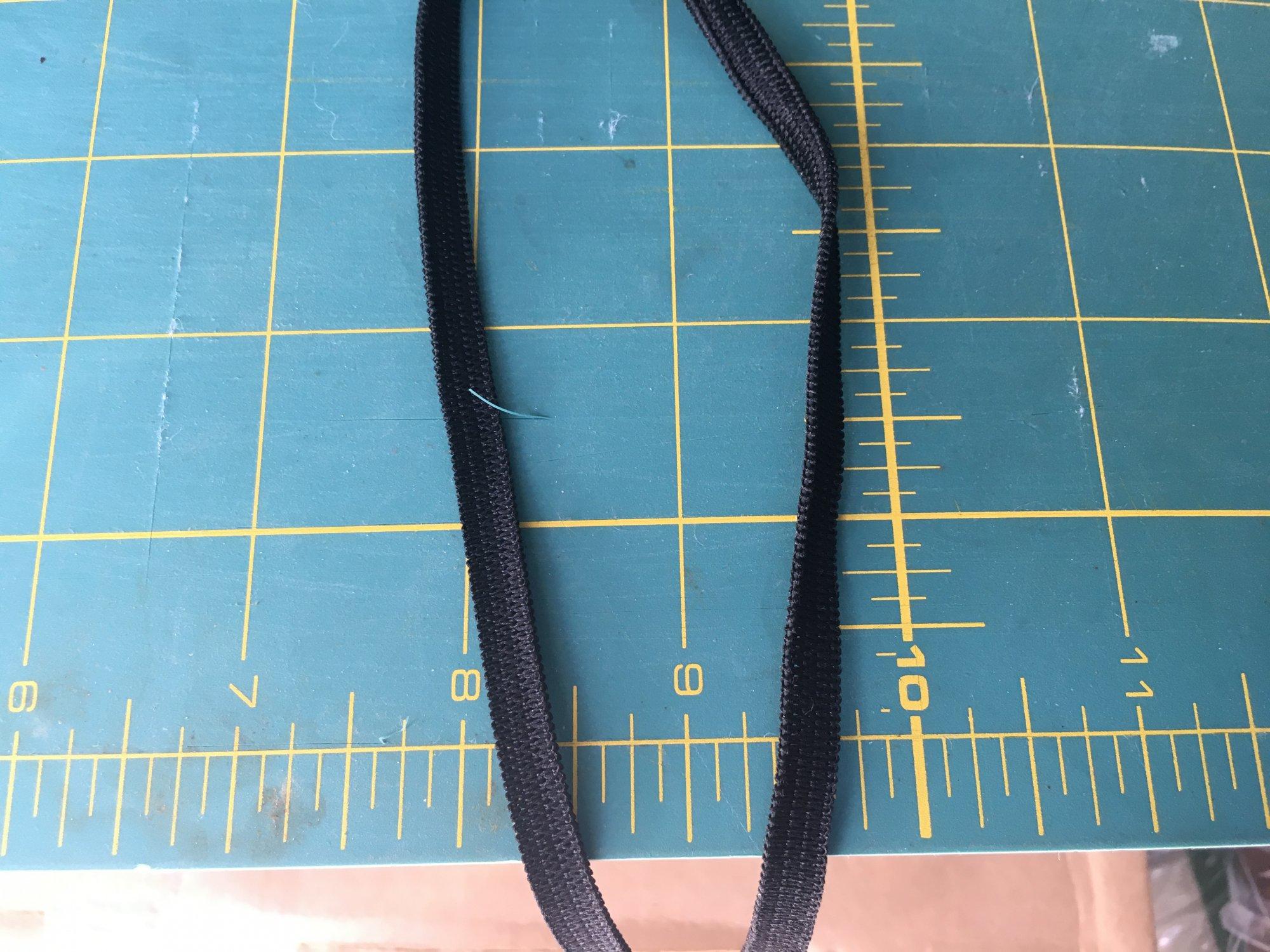 1/4 Elastic BLACK