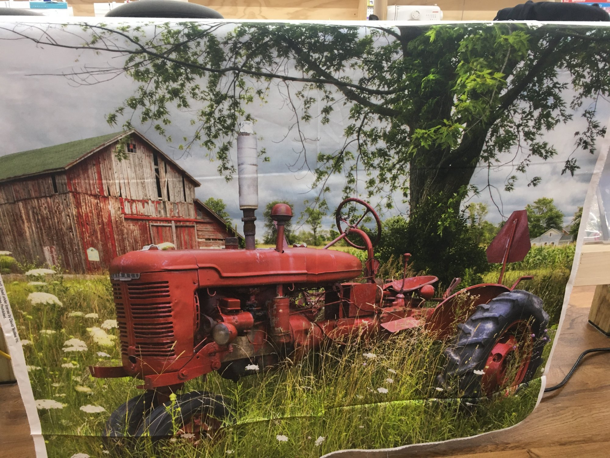 Tractor and Barn 42x36