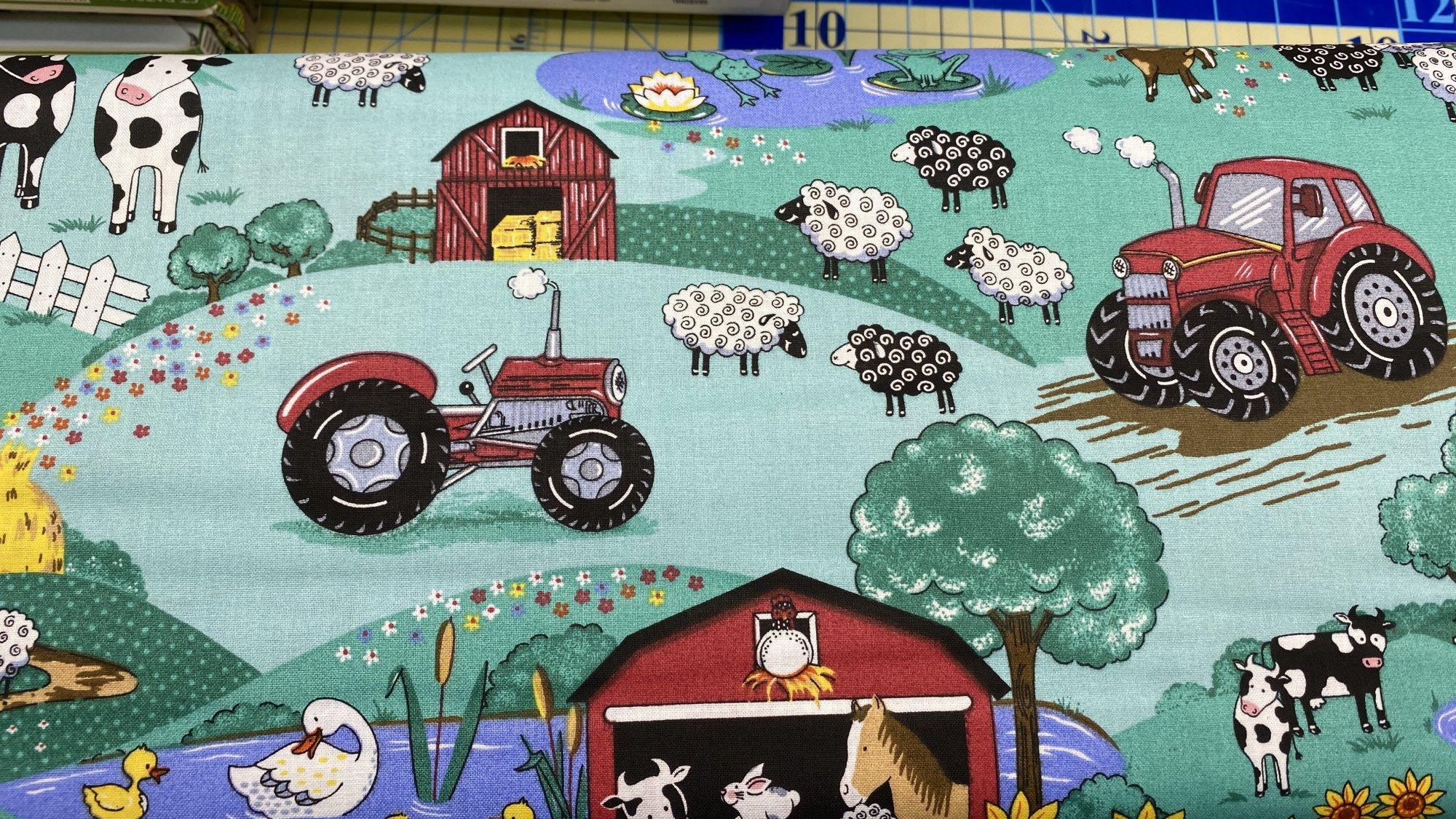 Fun on the Farm Chickens, Tractors, Barn, Cows