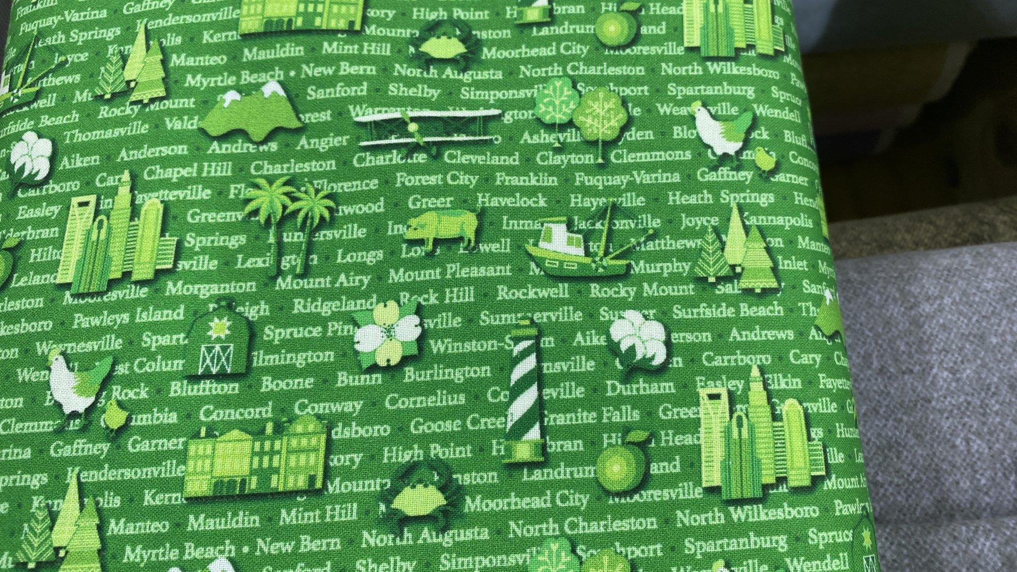Shop Hop Cities & Words Green